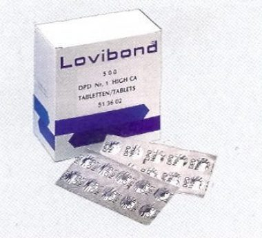 טבליות PHNOL RED ירוק לטסט קיט ידני מתוצרת LOVIBOND
